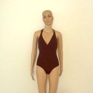 Sun Lab Swim Black Swimsuit One Piece size Small